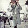 2016 новый женская Мода осень осень зима женщины Пальто Кашемировые Манто Femme Длинные Негабаритных Пальто Длиной Пальто свитера