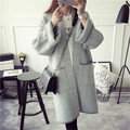 2016 new womens fall Fashion autumn winter woman Trench Coat Cashmere Manteau Femme Long Oversized Coat Length Overcoat sweaters