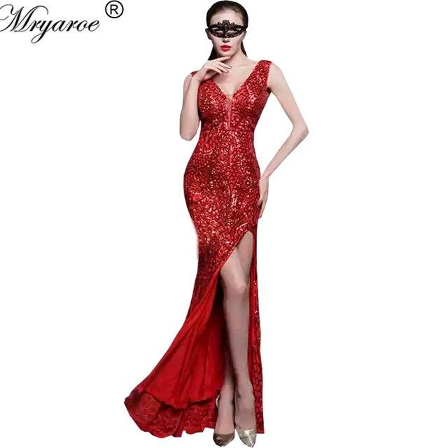 Robe de soiree rouge a paillettes