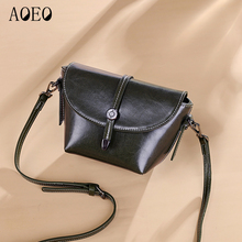 AOEO New Arrival Small Messenger Bag Womens Luxury Leather Hobos Handbags Mini Female Purses Quality Ladies Shoulder Bags Phone