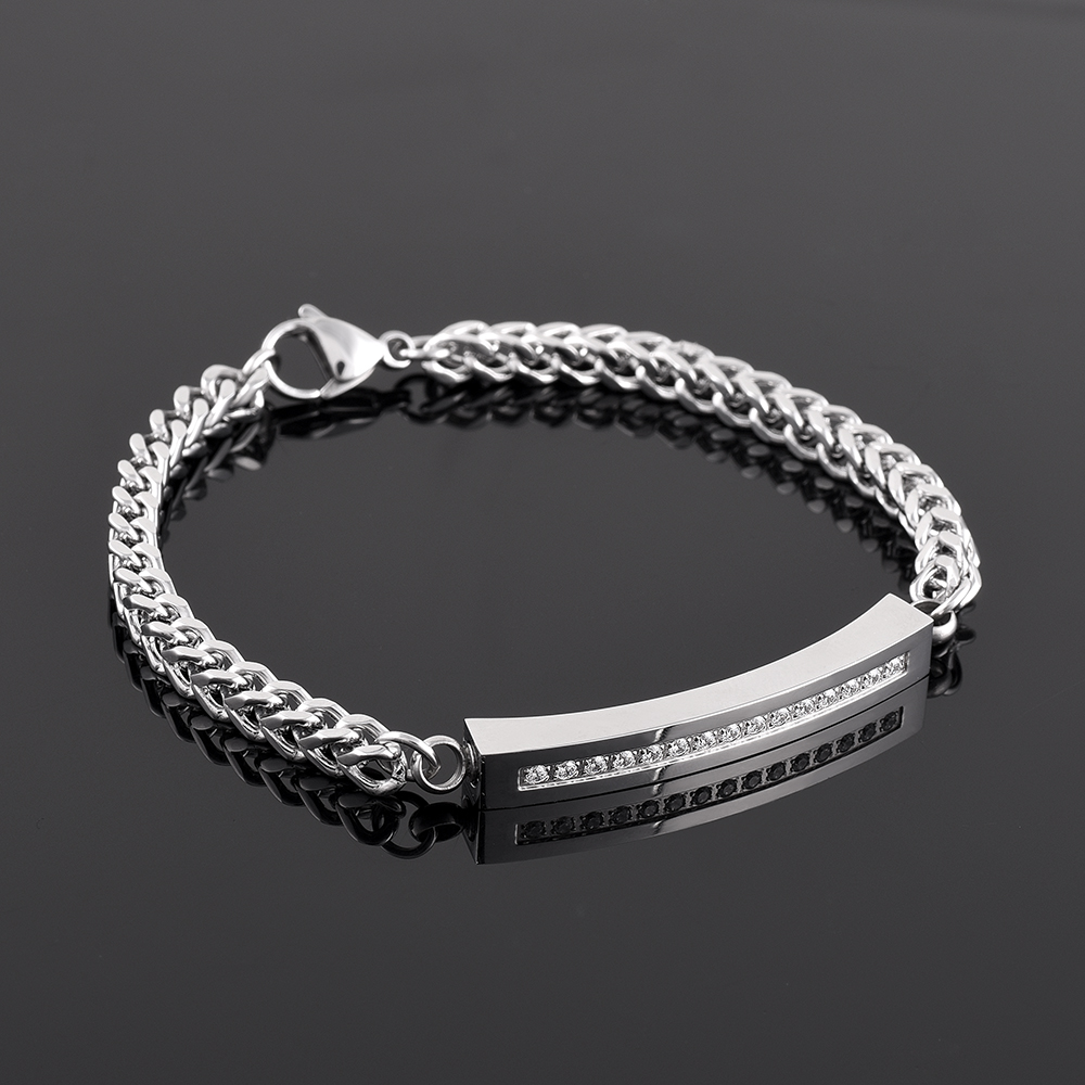 Nice CZ Stone Crystal Memorial Ashes Urn Bracelet Keepsake Cremation Bangle Men Women