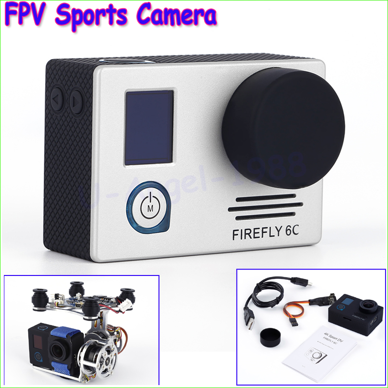1set Firefly 6C 4K @24FPS 16MP HD Action Sports Camera For FPV Multicopter Remote RC Aircraft Quadcopter Dropship Wholesale cheerson cx 20 cx20 rc quadcopter original parts sports hd dv camera 12 0mp