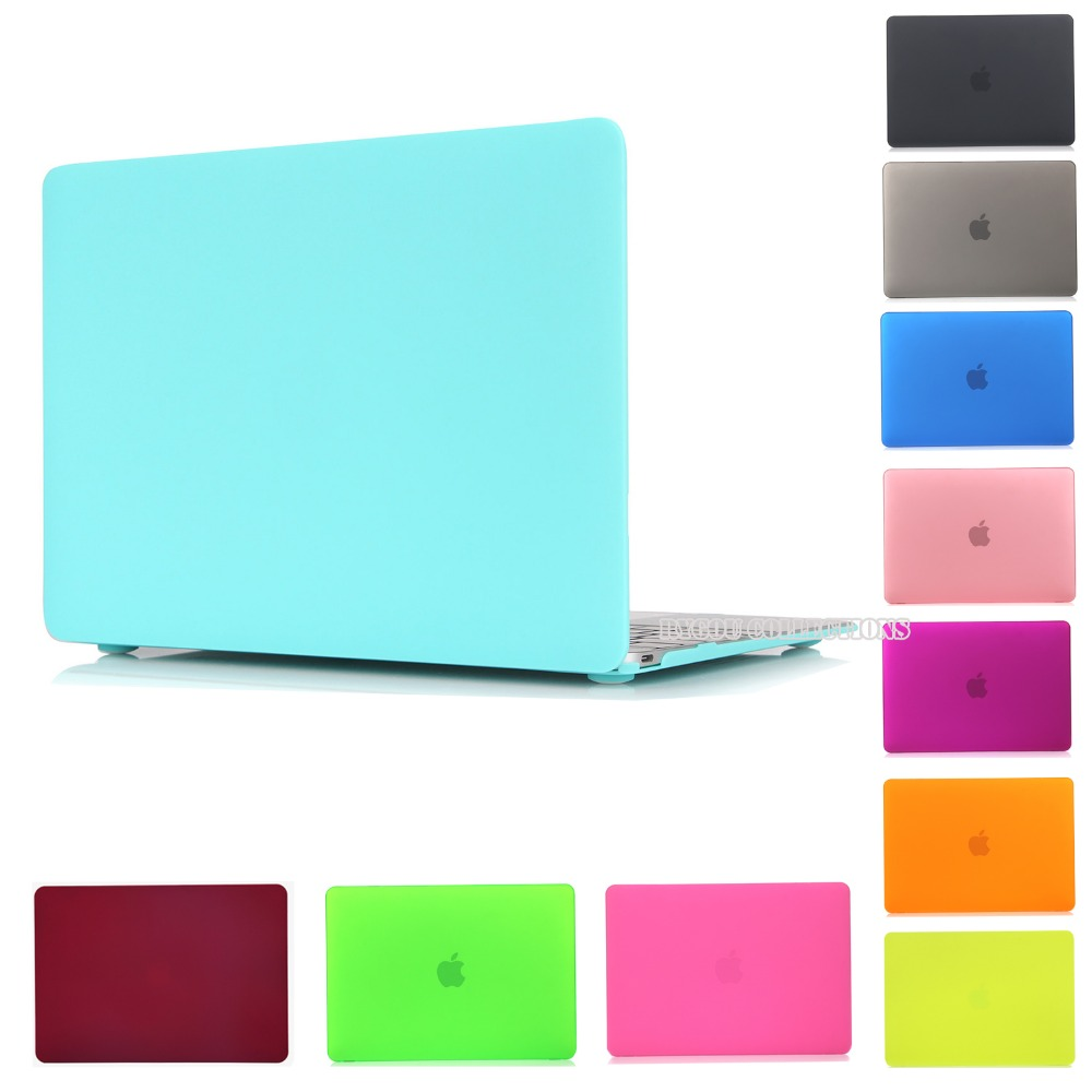 Matte Rubberized Crystal Clear Hard Case Cover For Macbook Pro 13.3 15.4 Pro Retina 12 13 15 inch Macbook Air 11 13 Laptop Case rubberized hard shell case w ribbed design holster