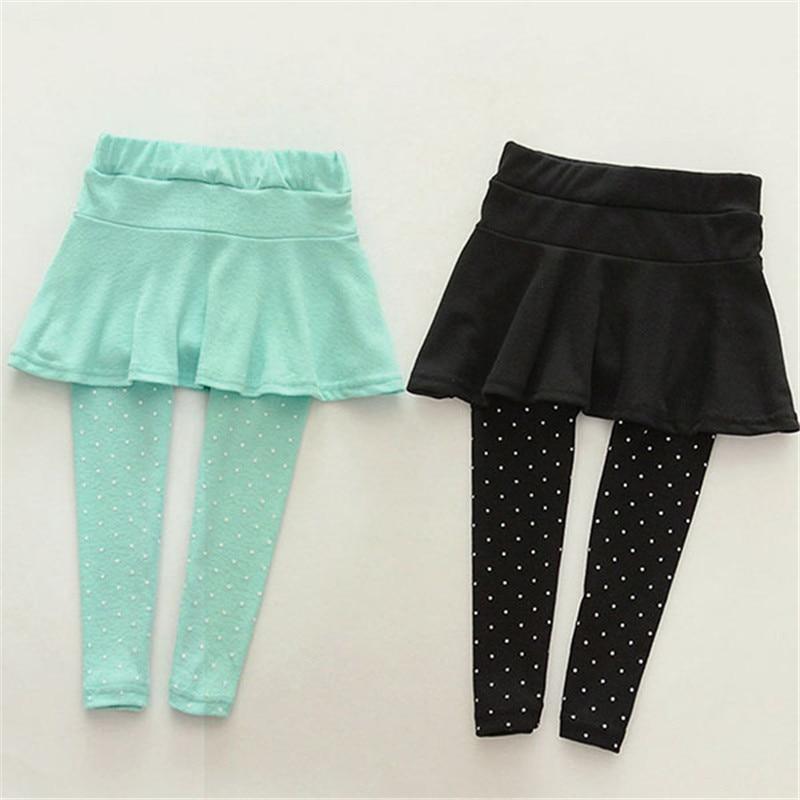 Toddler Girls Culottes Render Pants Kids Child Spring Fall Leggings Trousers Skirt 1-7 Years LL6