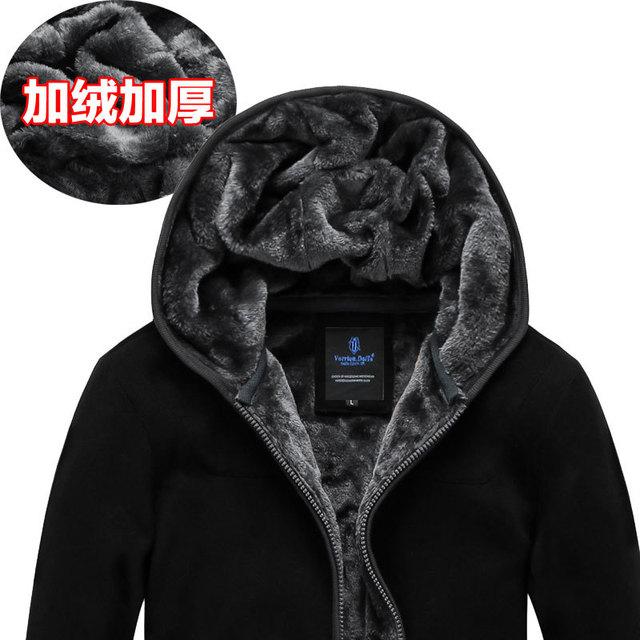 Envío libre más el tamaño XXL XXXL 4XL 5XL 6XL de Los Hombres clothing térmica de invierno de terciopelo con capucha sudadera escudo militar marca grande caliente