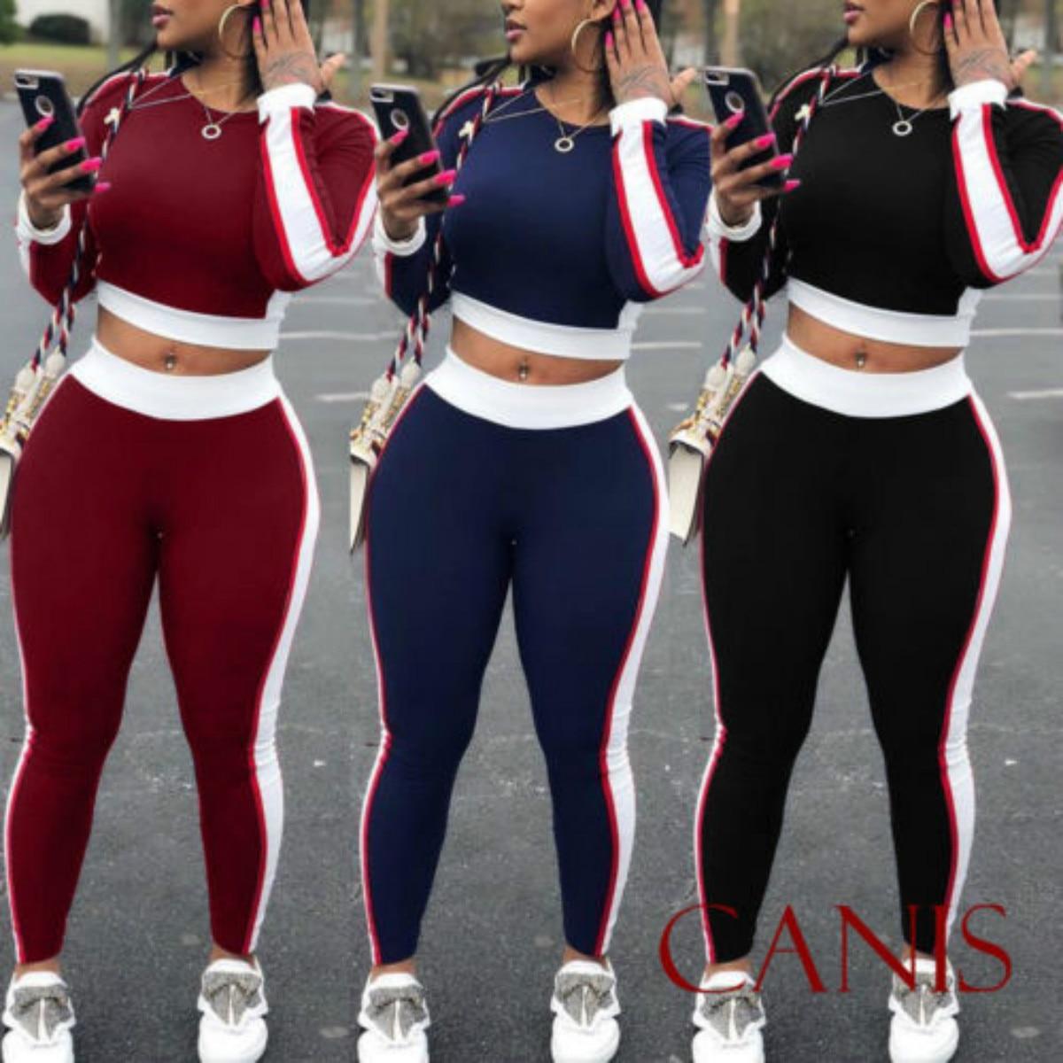 Women Set 2018 New Brand 2Pcs Women Autumn Long Sleeve O-Neck Casual   Hoodies Pants Sets  Casual Suit
