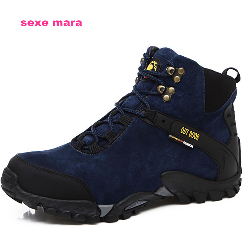 size 35-45 Outdoor Sneakers Women and Men Sports Shoes Winter antiskid Off-road Waterproof  Jogging Trainers Walking Running 2017brand sport mesh men running shoes athletic sneakers air breath increased within zapatillas deportivas trainers couple shoes