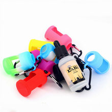 10cs 15ml liquid bottle holder e juice bottle silicone case enclosure coversleeve for glass E cig oil bottle plastic(China)