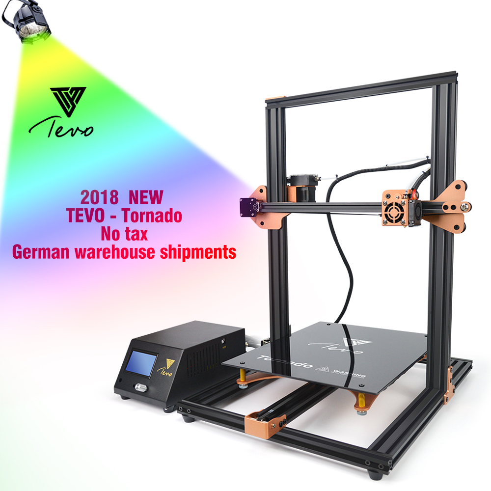 2018 TEVO Tornado Newest 3D Printer Fully Assembled Aluminium Extrusion 3D Printing Machine Impresora 3d with Titan Extruder tevo tornado 3d printer 95