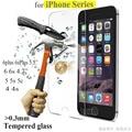 0.3mm 9 h vidro temperado para iphone 4s 5 5s 6 6 s além de protetor de tela de proteção guarda film frontal da tampa do caso + kits de limpeza