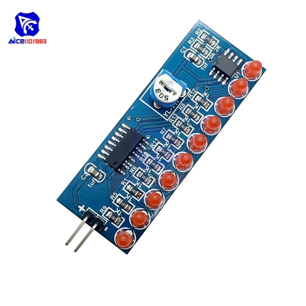 NE555 CD4017 NE555 Driver Water Powered Board Circuit  Water Flowing Light LED Electronic Module DIY Kit Running Light Drive