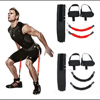Fitness Bounce Trainer Leg Resistance Bands Trainer Rope Crossfit Jump Strength Agility Training Strap Gym Equipment Accessories