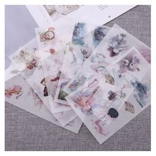 6Pcs/Pack Chinese Antique Objects Decoration Scrapbooking Stickers Transparent DIY Stationery Diary Stickers(China)