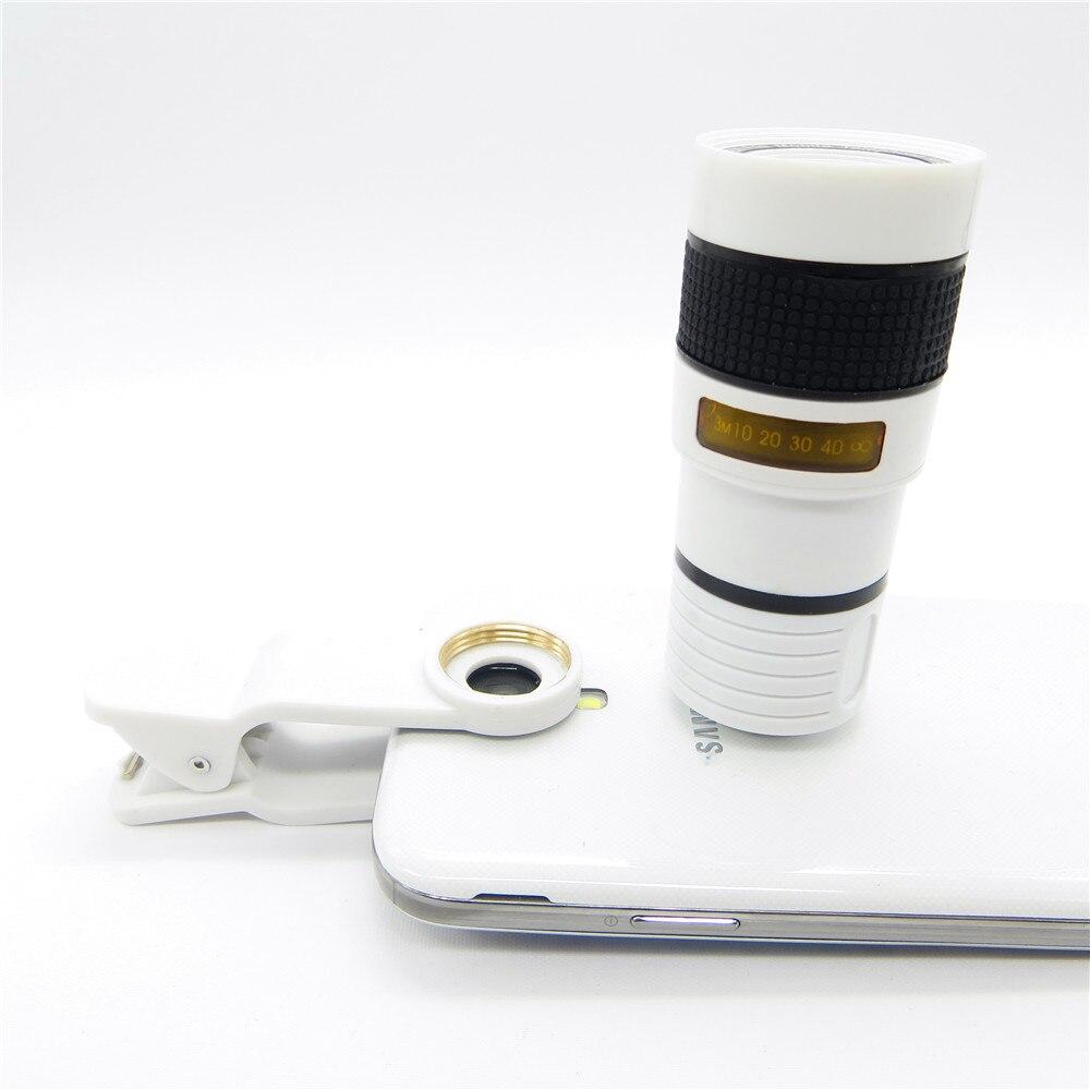 Universal 8X Zoom óptico Telescopio Cámara Lente Clip Teléfono - Accesorios y repuestos para celulares - foto 3