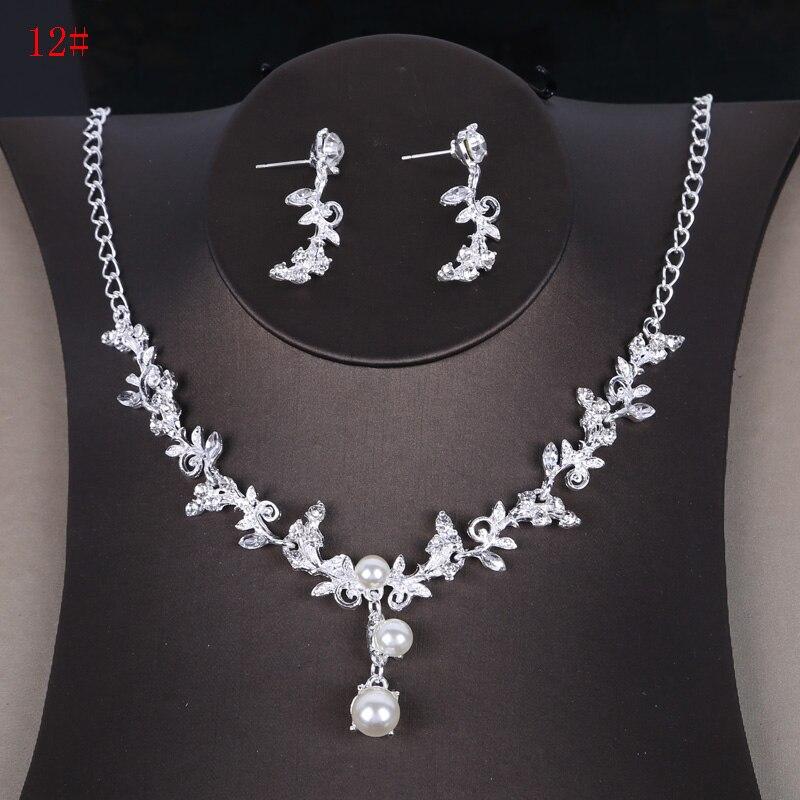 Alexzendra Wedding Jewelry Flowers Shape Silver Crystal Classic Bridal Necklace Luxury Crystal Rhinestones Jewelry for Women