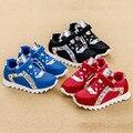 2016 nova malha respirável sapatos meninos tênis rebite meninas de sapatos primavera outono sapatos esportivos casuais