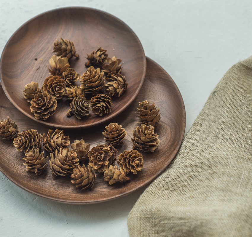 Mini Real Natural Pinecone Pine Cones Decorative Pinecone Bauble Xmas Tree Decor Home Decors 5pcs/bag