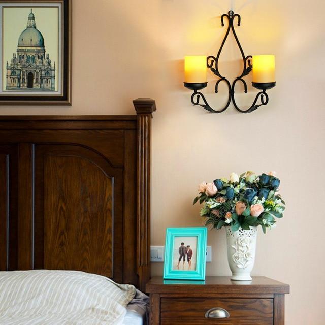 giveu beleuchtung decke kronleuchter mit 4 flammenlose kerze metall leuchter wand sonce set von 2 - Kronleuchter Wand