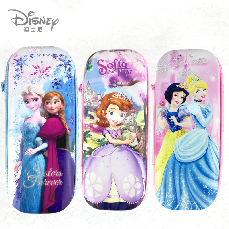 Frozen Princess Elsa Anna Cartoon Case Pencil  Stationery Box Cartoon Pencil Bag  Girl Large-capacity Children's Pencil Bag