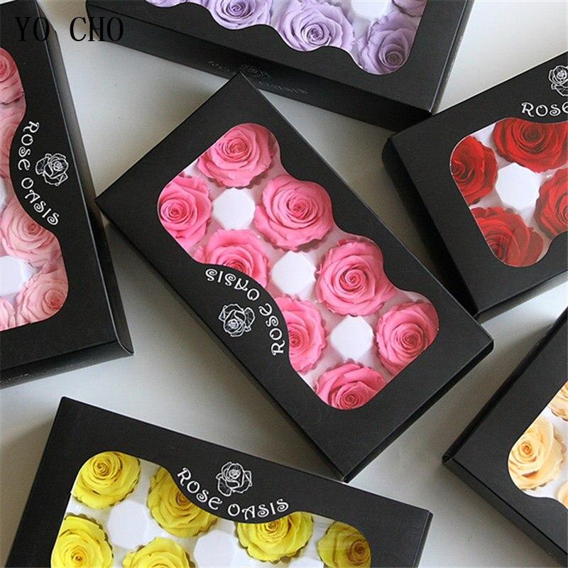 4-5cm Konservierte Blumen Rose Mütter Tag Geschenk Ewige Leben Blume Material Weihnachten Valentine'Day Geschenk Box Unsterblich Rose blume