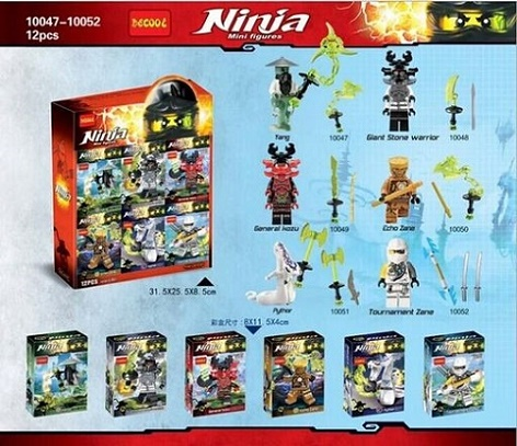 Decool 10047-10052 Super Heroes Avengers Ninja doll Building Blocks Yang General Kozu Pythor Action Kids Bricks Gift Toys