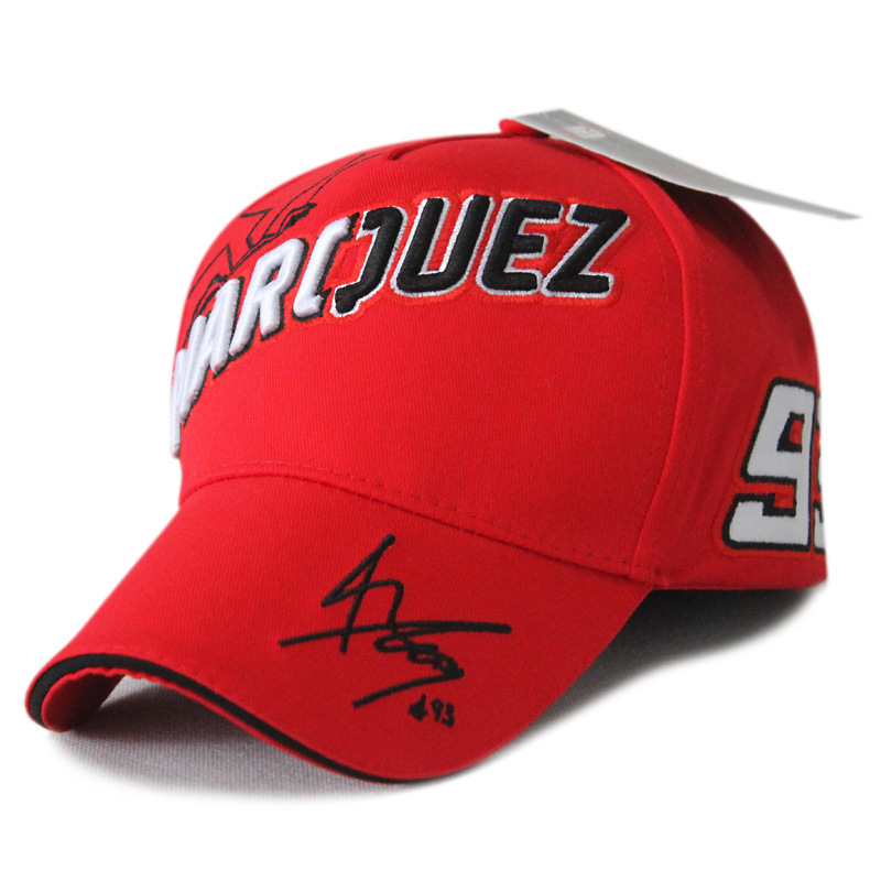 MotoGP Mark Marquez Signed Outdoor Sports Baseball Cap Embroidered F1 Motorcycle  Racing Hat Number 93 The Ants Cap Free Shipping 41ca25b4ee50
