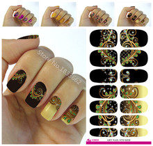 Fashion Nails Art Sticker Colored Bright Crystal Design Nail Sticker Manicure Decor Tools Nail Wraps Decals