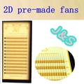 J&S High Quality Y Eyelash Extension 1trays/lot Soft all Lenght C curl ,2D pre made fans, hand-made fans Free Shipping