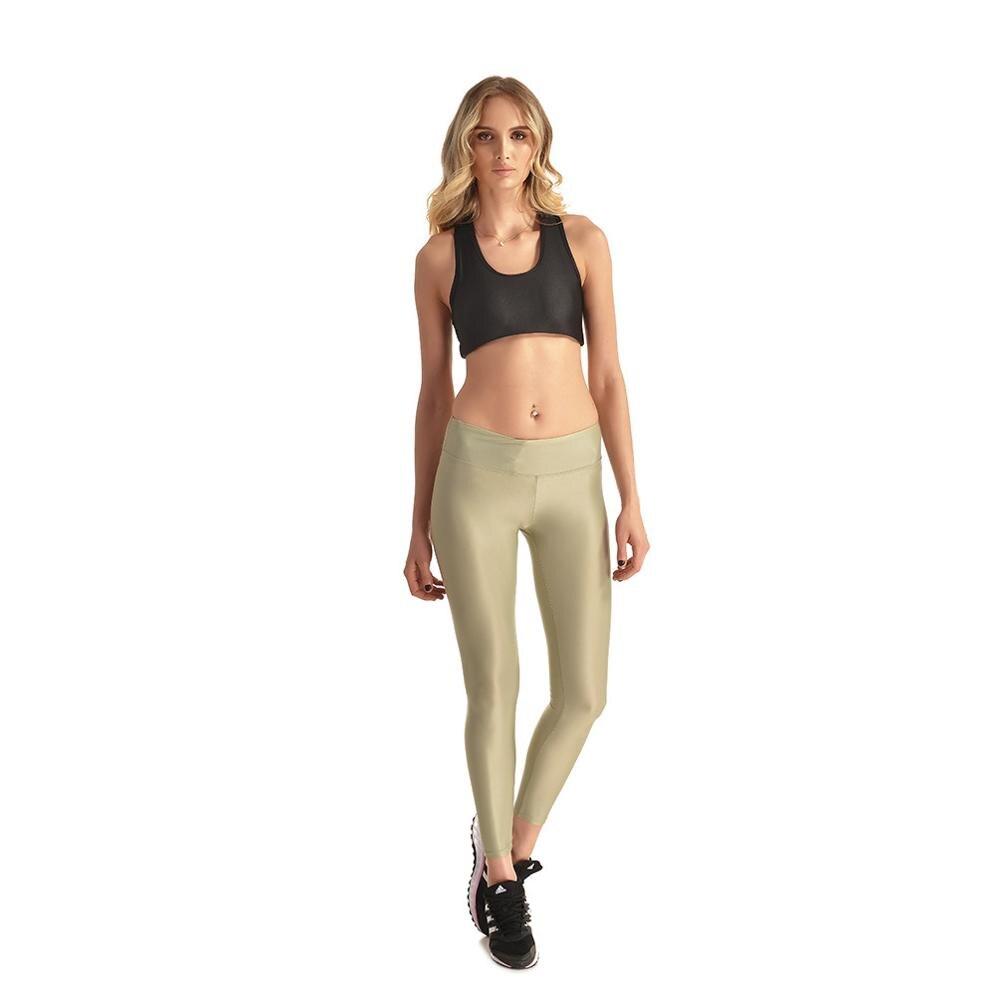 Da Donna Mettalic Lucido Wet Look Skinny Fit Stretch Leggings Capri Pants Pantaloni