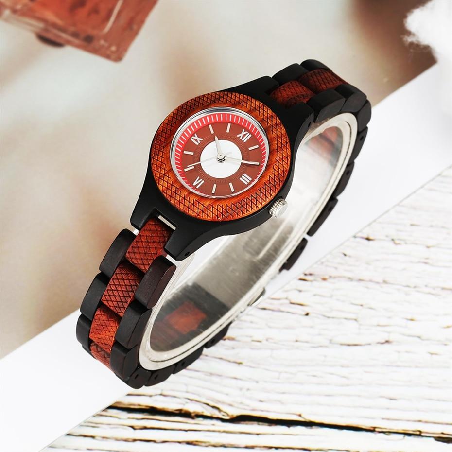 Women Watch Creative Multi-layer Circle Chic Dress Watch Dial Analog Light Slim Wooden Bracelet Quartz Wristwatch for Lady Girls 2020 (6)