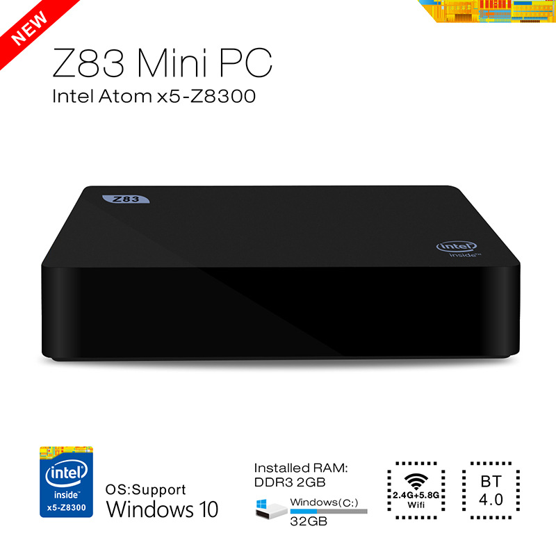 NEW high quality network set-top box Intel MINI PC HTPC with WIFI HDMI RJ45 USB Bluetooth Windows10