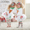 Baby Girls Chirtmas Clothing Sets Cartoon Children's Wear Casual Tracksuits Kids Clothes White Princess Dress Deerlet Hot GH212