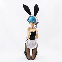 29CM Japanese sexy anime figure From zero to different worlds Ram Rem BUNNY ver action figure kneeling ver action figure
