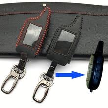 Elogios Do Alarme Do Carro Forma 100% Couro Case For Scher-Khan Magicar Só Fit Tampa M5 Scher Khan Magicar 5 LCD Remoto para Starline