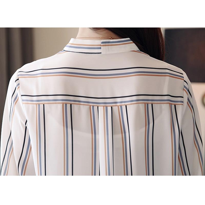 Women 39 s Blouse Casual Printed Shirts Women 39 s Shirt Chiffon Blouse Autumn Fashion 3 4 Sleeve Striped Shirt Tops Blusas in Blouses amp Shirts from Women 39 s Clothing