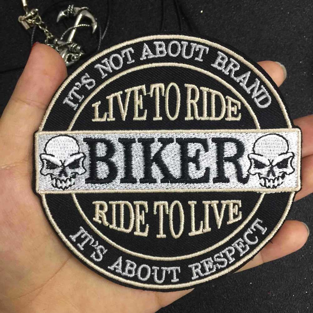 live to rider Iron On Patch Embroidered Applique Sewing Label Stickers Apparel Accessories Badge