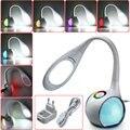 5 W Color De Cuello de Ganso Cambio Atmósfera Táctil Regulable Escritorio de Tabla del LED Luz de Lectura Protección para Los Ojos Lámpara de Noche Dormitorio luz