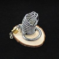 2017 הגנה עצמית אישי נירוסטה אספקת כלוב הגנה שעבוד גברים טבעת פין טבעת זין נעילת מכשיר צניעות זכר