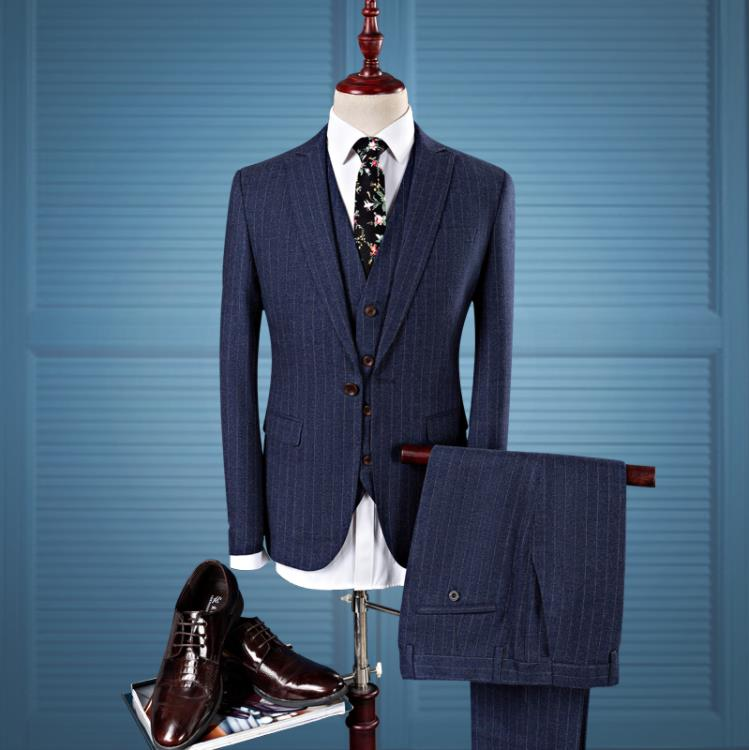 Jacket Vest Pants 2019 Men Slim Skinny Casual Business Costum Suit Jacket Men 39 s Wool Suits Wedding Dress Suit Men Ternos in Suits from Men 39 s Clothing