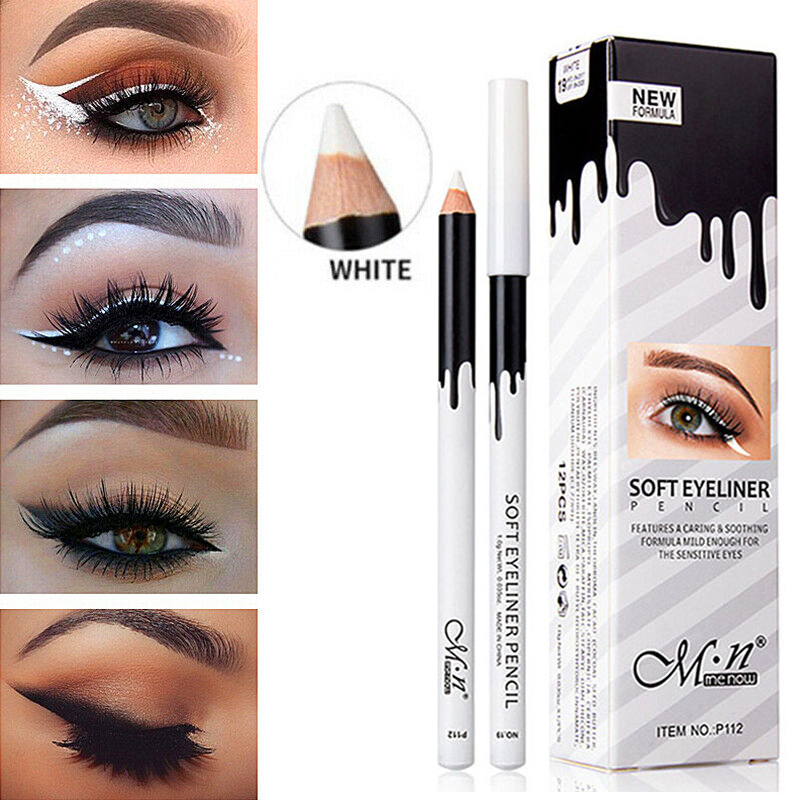 White Color Eyeliner Pencil Waterproof Long Lasting Easy To Wear Contour Eye Liner Pen Makeup Cosmetics