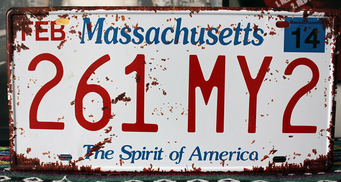 SP-CP-0231 License Plates Car number About  America 261-MY2  Retro Vintage Metal tin signs Wall art craft painting 15x30cm