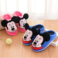 2016 Winter Chidren Warm Cotton Padded Shoes Boys mickey Cartoon Slippers Boys Girls Indoor Home Furnishing Shoes