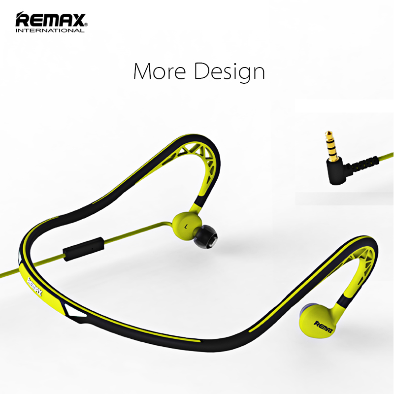 Remax neckband sports earphone Noctilucent Twist design Wired headset waterproof Headphones for xiaomi redmi iphone 5s 6s 7s 8s