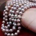 [Yinfeng] 9-10 мм большой картофеля форму жемчужины ожерелье Истинная природа пресноводные перлы длинное ожерелье для женщины