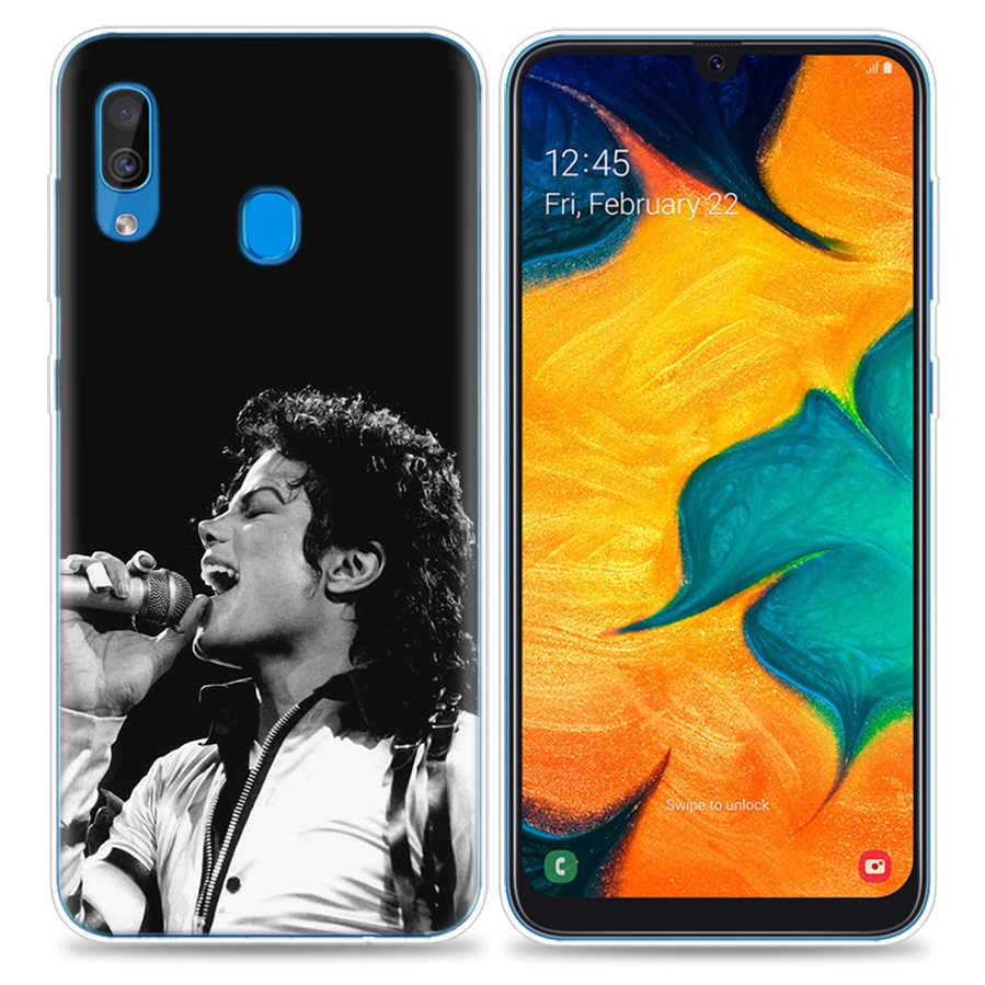 שקיות מקרה טלפון סלולרי Samsung Galaxy A50 A70 A30 A20 J4 J6 J8 A6 A8 M30 A7 בתוספת 2018 הערה 8 9 מייקל ג 'קסון MJ Coque J6Pl