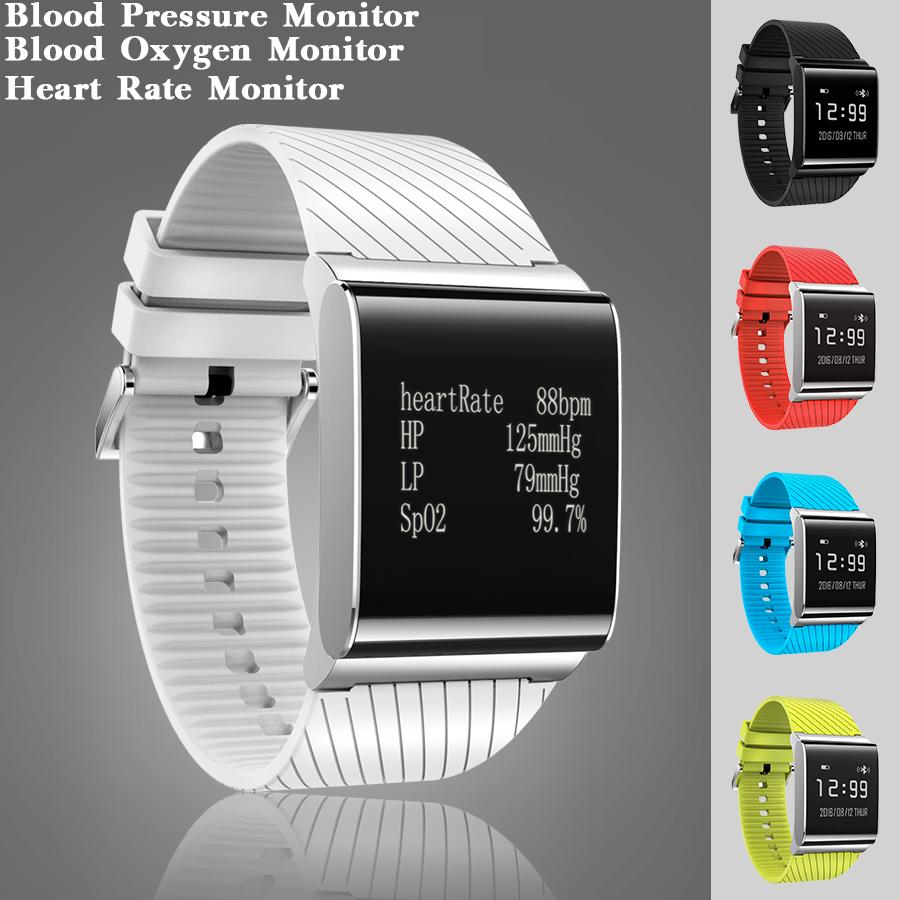 Prix pour 5 Couleurs Mode De Bain Connectivité Smart Watch Horloge La Pression Artérielle en Oxygène du Sang Moniteur de Fréquence Cardiaque Smartwatch Pour Android iOS