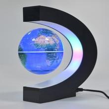 все цены на LED Floating Globe Magnetic Levitation Desk Night Lamp English World Map Ball globo terrestre Light For Kid Gift Home Decoration онлайн