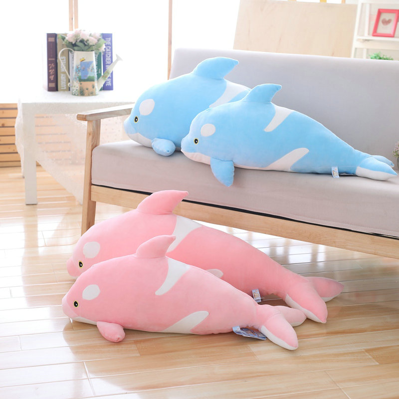 70-85cm Large size toy Cartoon <font><b>Killer</b></font> <font><b>whale</b></font> <font><b>plush</b></font> toy throw pillow Photography props birthday gift image
