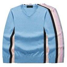 цена Men's pullover warm V-neck formal sweater cotton fashion pullover long-sleeved winter basic pullover men's clothing онлайн в 2017 году