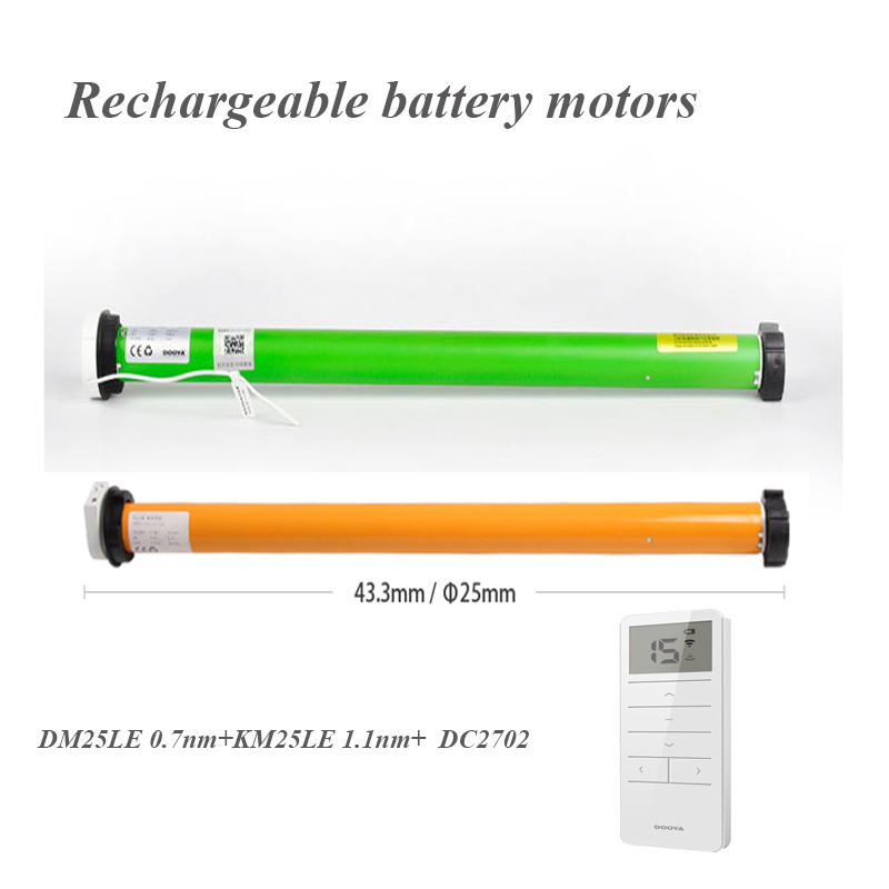 free shipping original Dooya DM25LE KM25LE rechargeable battery motor DOOYA tubular motor for Dia 38mm tube